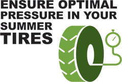Ensure optimal pressure in your summer tires