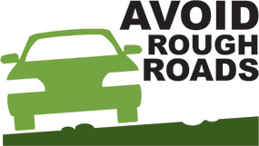 Avoid rough roads