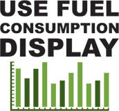 Use fuel consumption display